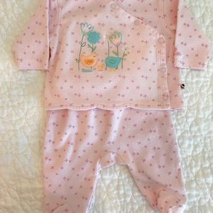 ABSORBA Two-piece footed outfit. EUC